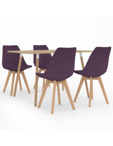 Valgomojo baldų komplektas, 5 dalių, violetinis (287245+324174)   Virtuvės ir Valgomojo Baldų Komplektai   duodu.lt