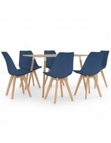 Valgomojo baldų komplektas, 7 dalių, mėlynas (287245+3x324161) | Virtuvės ir Valgomojo Baldų Komplektai | duodu.lt