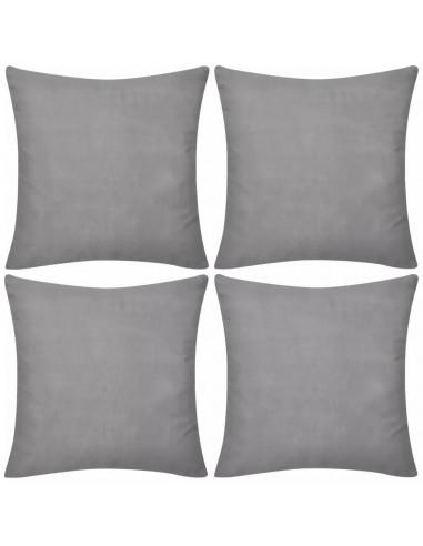 130908 4 Pilki Pagalvėlių Užvalkalai, Medvilnė, 50 x 50 cm  | Dekoratyvinės pagalvėlės | duodu.lt