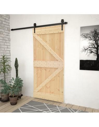Stumdomos durys su įrangos rinkiniu, 90x210cm, pušies masyvas | Durys | duodu.lt