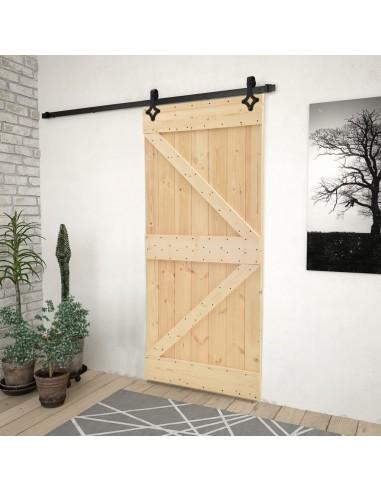 Stumdomos durys su įrangos rinkiniu, 100x210cm, pušies masyvas | Durys | duodu.lt