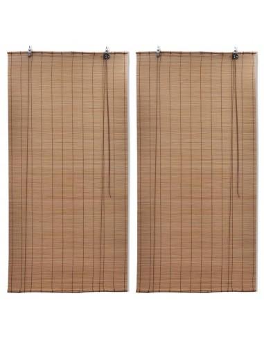 Roletai, 2vnt., rudos spalvos, 80x160cm, bambukas   Žaliuzės ir Užuolaidos   duodu.lt