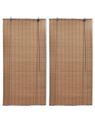 Roletai, 2vnt., rudos spalvos, 100x160cm, bambukas (2x241327)   Žaliuzės ir Užuolaidos   duodu.lt