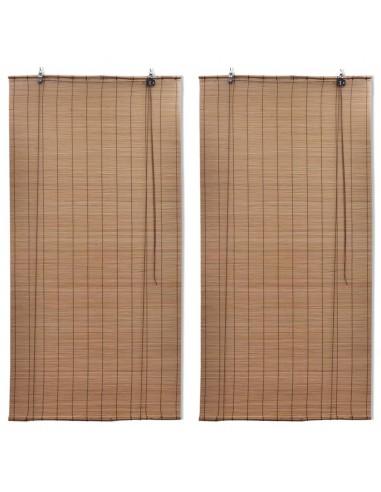 Roletai, 2vnt., rudos spalvos, 150x220cm, bambukas (2x241331) | Žaliuzės ir Užuolaidos | duodu.lt