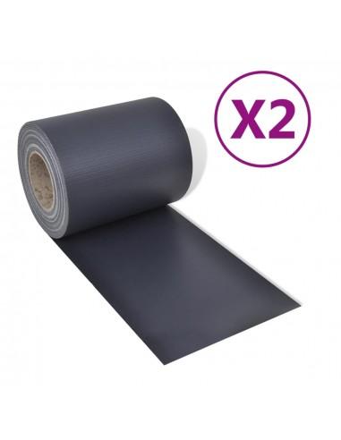 Sodo pertvaros, 2vnt., tamsiai pilkos, 70x0,19m, PVC | Tvoros Segmentai | duodu.lt
