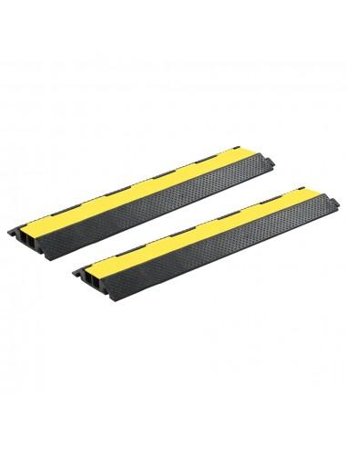 Kabelių apsaugos, 2vnt., guma, 2 kanalai, 101,5cm (2x142834) | Kelio ženklai | duodu.lt