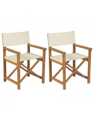 Sulankstomos režisieriaus kėdės, 2vnt., tikmedžio masyvas | Lauko Kėdės | duodu.lt