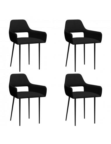Valgomojo kėdės, 4vnt., juodos spalvos, audinys (2x322964) | Virtuvės ir Valgomojo Kėdės | duodu.lt