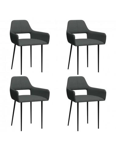 Valgomojo kėdės, 4vnt., tamsiai pilkos, audinys (2x322967)  | Virtuvės ir Valgomojo Kėdės | duodu.lt