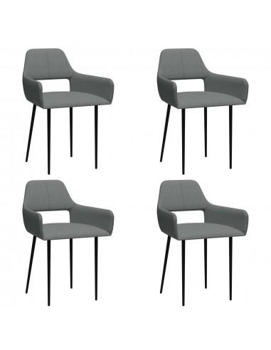 Valgomojo kėdės, 4vnt., šviesiai pilkos, audinys (2x322968)   Virtuvės ir Valgomojo Kėdės   duodu.lt