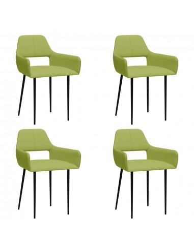 Valgomojo kėdės, 4vnt., žalios spalvos, audinys (2x322969) | Virtuvės ir Valgomojo Kėdės | duodu.lt