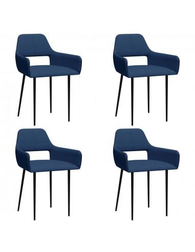 Valgomojo kėdės, 4vnt., mėlynos spalvos, audinys (2x322970) | Virtuvės ir Valgomojo Kėdės | duodu.lt