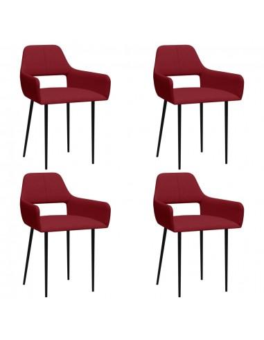 Valgomojo kėdės, 4vnt., vyno raudonos, audinys (2x322972)   Virtuvės ir Valgomojo Kėdės   duodu.lt