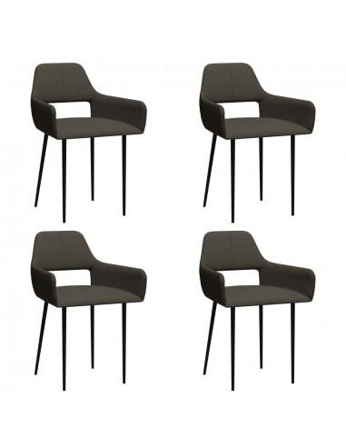 Valgomojo kėdės, 4vnt., taupe spalvos, audinys (2x322973) | Virtuvės ir Valgomojo Kėdės | duodu.lt