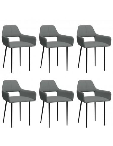 Valgomojo kėdės, 6vnt., šviesiai pilkos, audinys (3x322968)  | Virtuvės ir Valgomojo Kėdės | duodu.lt