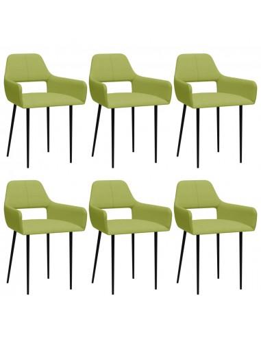 Valgomojo kėdės, 6vnt., žalios spalvos, audinys (3x322969)   Virtuvės ir Valgomojo Kėdės   duodu.lt