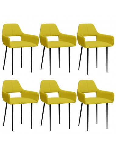 Valgomojo kėdės, 6vnt., geltonos spalvos, audinys (3x322971) | Virtuvės ir Valgomojo Kėdės | duodu.lt