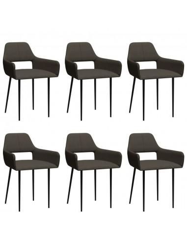 Valgomojo kėdės, 6vnt., taupe spalvos, audinys (3x322973) | Virtuvės ir Valgomojo Kėdės | duodu.lt