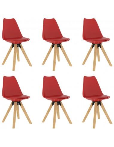 Valgomojo kėdės, 6vnt., raudonos spalvos | Virtuvės ir Valgomojo Kėdės | duodu.lt