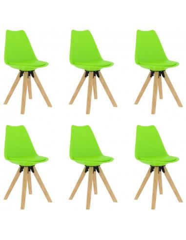 Valgomojo kėdės, 6vnt., žalios spalvos | Virtuvės ir Valgomojo Kėdės | duodu.lt