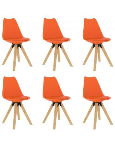 Valgomojo kėdės, 6vnt., oranžinės spalvos | Virtuvės ir Valgomojo Kėdės | duodu.lt