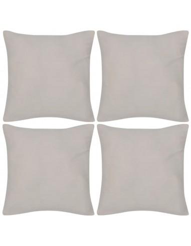 4 Smėlio Spalvos Pagalvėlių Užvalkalai, Medvilnė, 80 x 80 cm   Dekoratyvinės pagalvėlės   duodu.lt