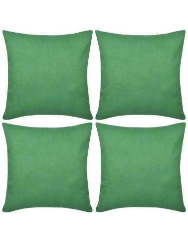 4 Žali Pagalvėlių Užvalkalai, Medvilnė, 40 x 40 cm   Dekoratyvinės pagalvėlės   duodu.lt