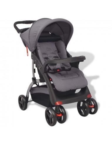 Vaikiškas vežimėlis, pilkas, 102x52x100 cm    Kūdikių Vėžimėliai   duodu.lt