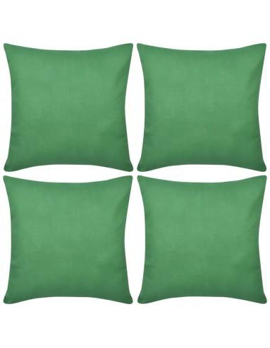 4 Žali Pagalvėlių Užvalkalai, Medvilnė, 50 x 50 cm | Dekoratyvinės pagalvėlės | duodu.lt
