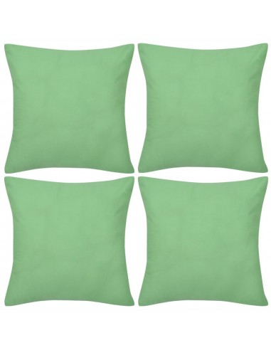 4 Šviesiai Žali Pagalvėlių Užvalkalai, Medvilnė, 40 x 40 cm  | Dekoratyvinės pagalvėlės | duodu.lt