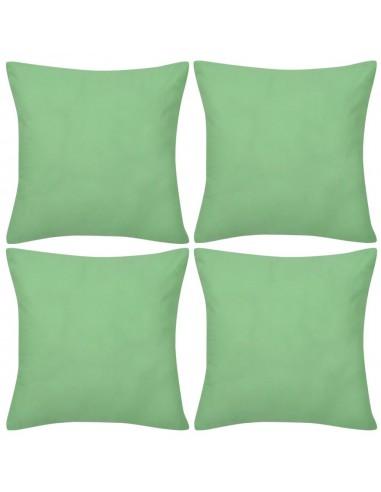 4 Šviesiai Žali Pagalvėlių Užvalkalai, Medvilnė, 50 x 50 cm | Dekoratyvinės pagalvėlės | duodu.lt