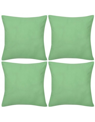 4 Šviesiai Žali Pagalvėlių Užvalkalai, Medvilnė, 80 x 80 cm | Dekoratyvinės pagalvėlės | duodu.lt