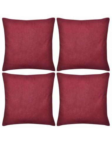4 Vyšninės Spalvos Pagalvėlių Užvalkalai, Medvilnė, 40 x 40 cm   Dekoratyvinės pagalvėlės   duodu.lt