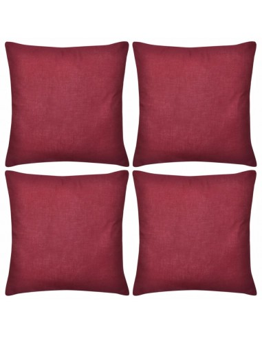 4 Vyšninės Spalvos Pagalvėlių Užvalkalai, Medvilnė, 50 x 50 cm   Dekoratyvinės pagalvėlės   duodu.lt