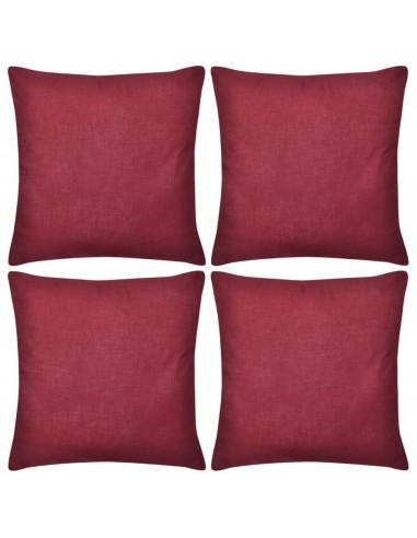 4 Vyšninės Spalvos Pagalvėlių Užvalkalai, Medvilnė, 80 x 80 cm   Dekoratyvinės pagalvėlės   duodu.lt