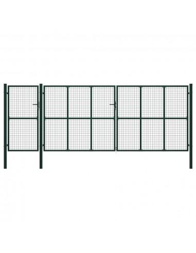 Sodo vartai, žalios spalvos, 500x200cm, plienas | Vartai | duodu.lt
