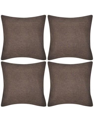 4 Rudi Pagalvėlių Užvalkalai, Lino Imitacija, 40 x 40 cm | Dekoratyvinės pagalvėlės | duodu.lt