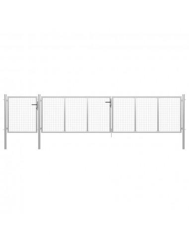 Sodo vartai, sidabrinės spalvos, 500x100cm, plienas | Vartai | duodu.lt