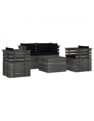 Valgomojo stalas, betono ir juodas,...
