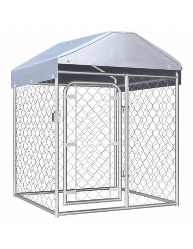 Lauko voljeras šunims su stogu, 100x100x125cm    Būdos ir voljerai šunims   duodu.lt