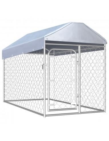 Lauko voljeras šunims su stogu, 200x100x125cm    Būdos ir voljerai šunims   duodu.lt