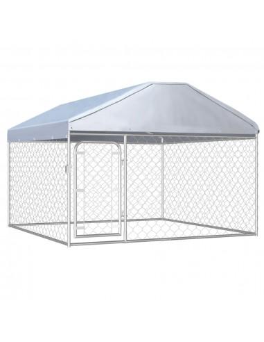 Lauko voljeras šunims su stogu, 200x200x135cm  | Būdos ir voljerai šunims | duodu.lt