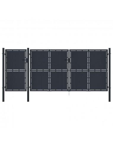 Sodo vartai, antracito spalvos, 4x2,5m, metalas | Vartai | duodu.lt