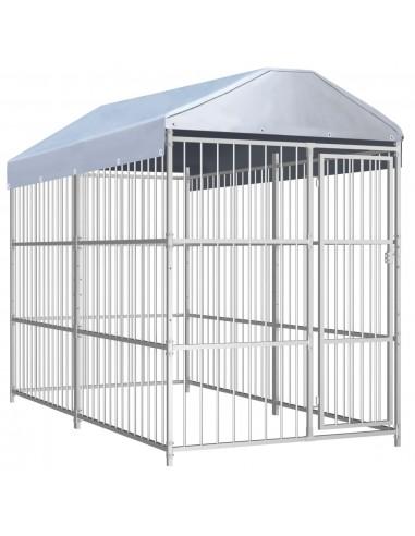 Lauko voljeras šunims su stogu, 300x150x200cm  | Būdos ir voljerai šunims | duodu.lt