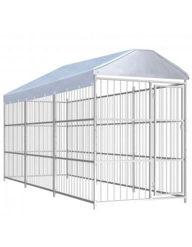 Lauko voljeras šunims su stogu, 450x150x200cm    Būdos ir voljerai šunims   duodu.lt