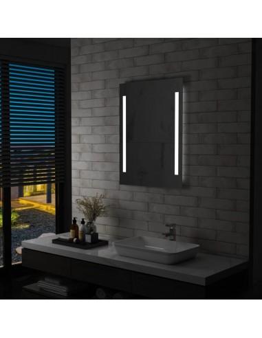 Sieninis vonios kambario veidrodis su LED, 60x80cm   Veidrodžiai   duodu.lt