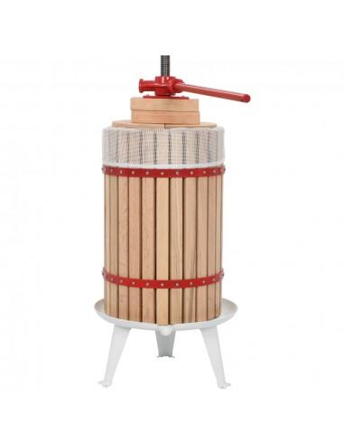 Vaisių ir vyno presas su audinio maišeliu, ąžuolo med., 24l | Vyno gamyba | duodu.lt