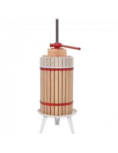 Vaisių ir vyno presas su audinio maišeliu, ąžuolo med., 30l   Vyno gamyba   duodu.lt