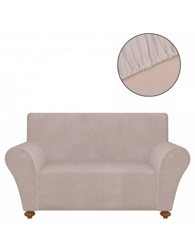 Tamprus sofos užvalkalas, smėlio sp. poliesterio džersis | Baldų Užvalkalai | duodu.lt