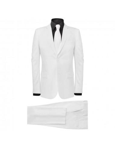 Vyriškas 2 Dalių Kostiumas su Kaklaraiščiu, Baltas, Dydis 48 | Kostiumai | duodu.lt